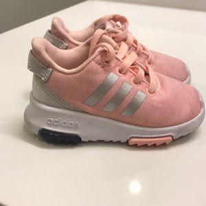 Pink adidias size 5